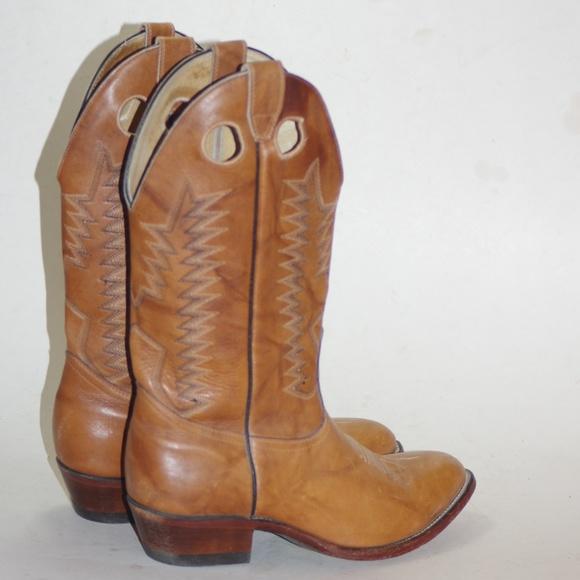 d8a4843740d COWBOY WESTERN BOULET Designer Leather Boots Men 9